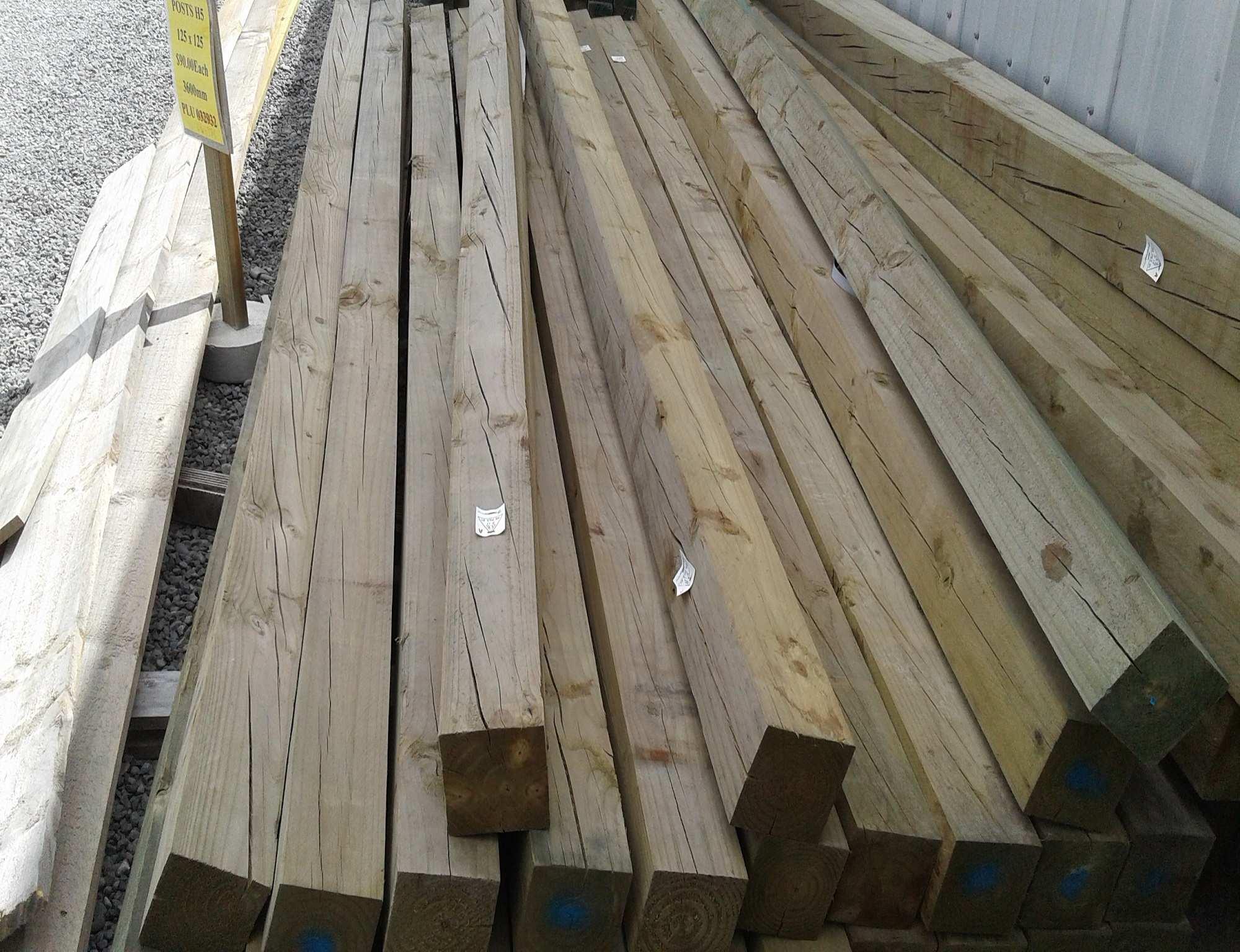 Pine Roughsawn 100 X 100mm H4 Treated New Musgroves Ltd