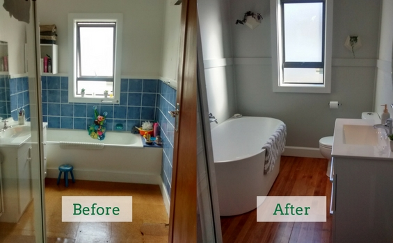 Bathroom Rebuild With Reclaimed Rimu Flooring