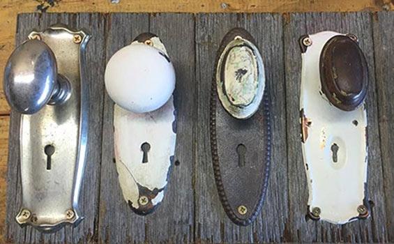 Upcycled Doorknob Coat Rack