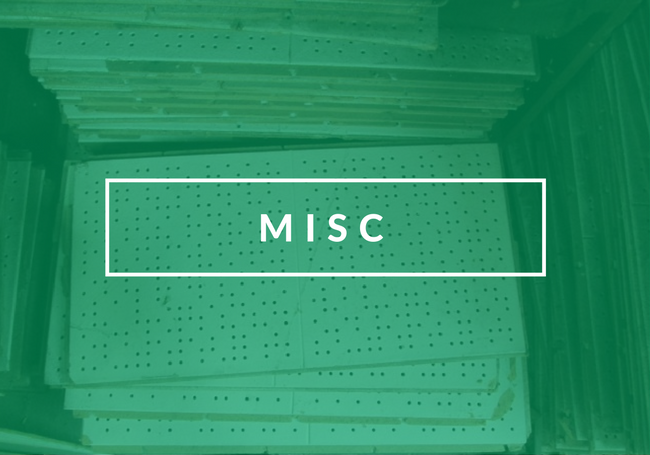 Miscellaneous Building Materials