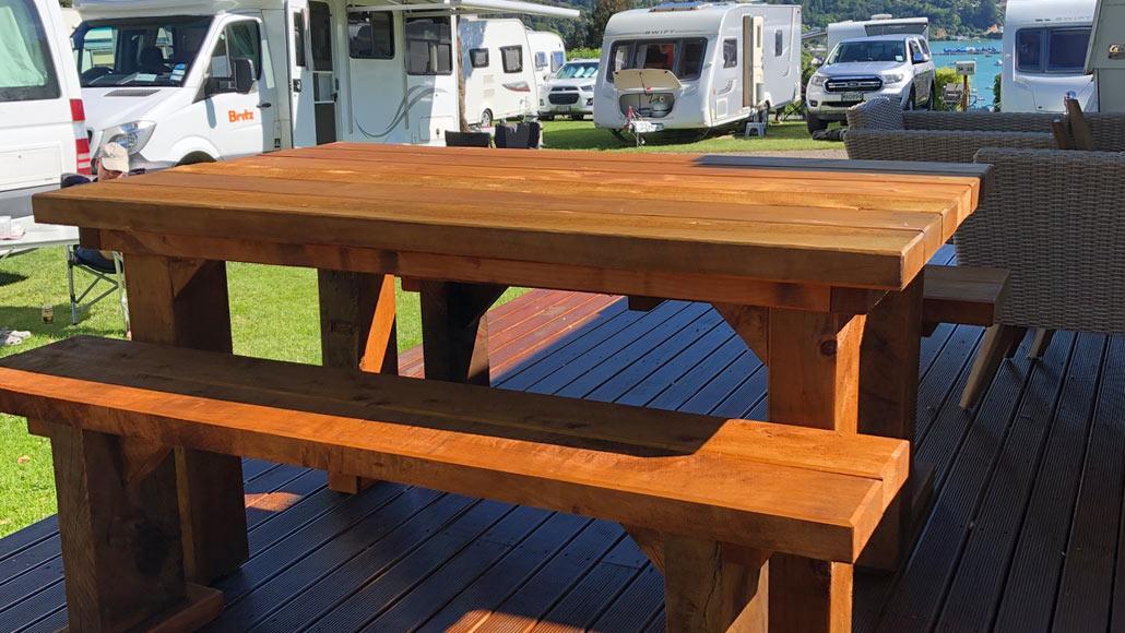 Macrocarpa Table & Bench Seats