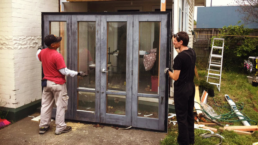 Recycled Bi-fold French Doors
