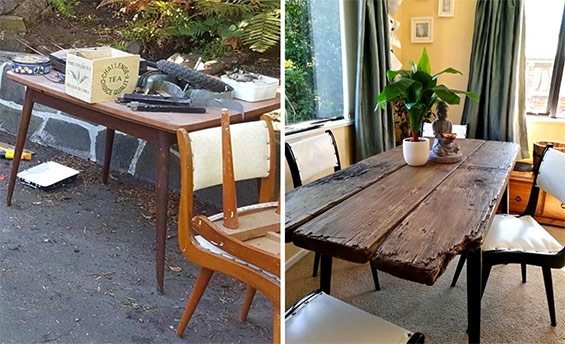 Rustic Scandi Recycled Dining Table by Ramshackle Design