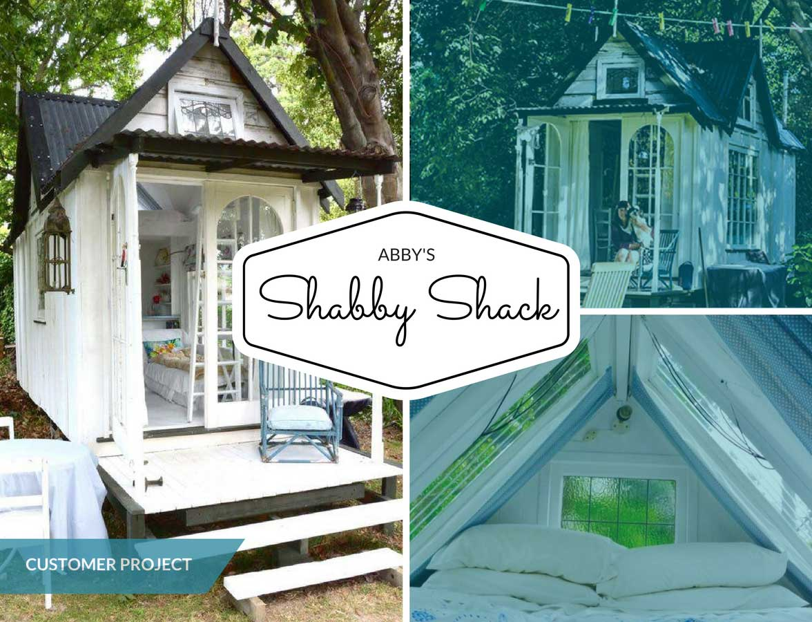 Abby's Shabby Shack Built From Recycled Materials