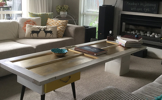 Upcycled Door Coffee Table