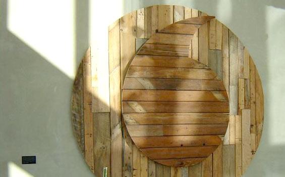 Reclaimed Timber Vodafone Logo Artwork