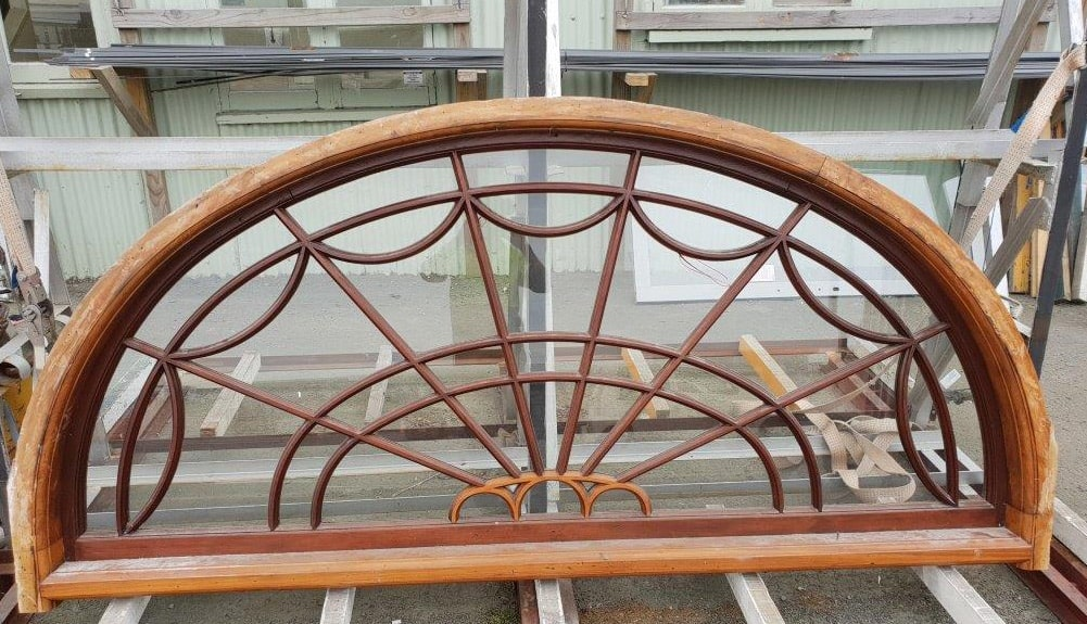 Recycled French doors top arch - Before restoration