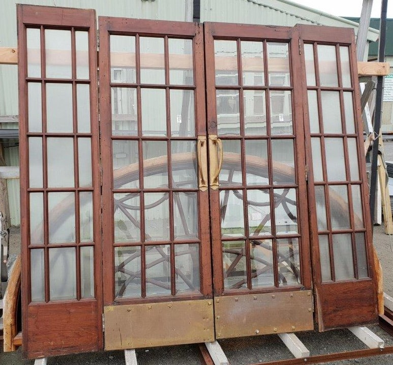 Recycled French doors - Before restoration