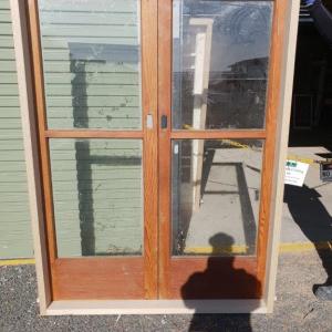 External Cedar 2 Pane French Door 1525mm w x 2055mm h