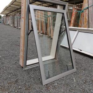 Double Glazed 690w x 1030h Silver Aluminium Window 1 Fan Opening