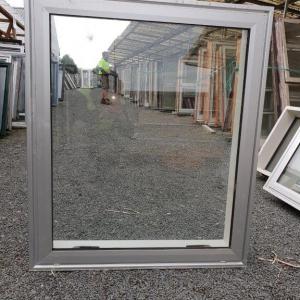 Double Glazed 875w x 1030h Silver Aluminium Window 1 Fan Opening