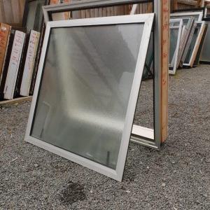 Double Glazed 980w x 1030h Silver Aluminium Window 1 Fan Opening