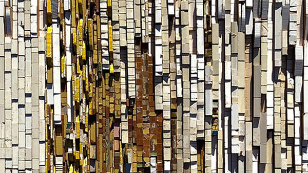 Kara Burrowes' discarded wood compositions