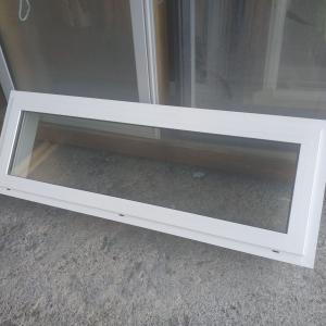 Double Glazed 1200w x 395h White Aluminium 1 Fan Opening Window NEW