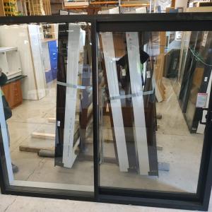 Ebony Double Glazed Sliding Door New 2400w x 2000h