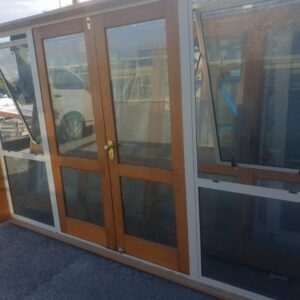 88309 French Door DG 2 pane with sidelights int opened windows