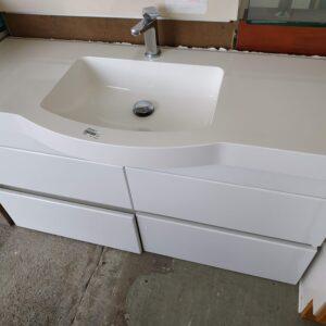 88947 White Vanity 4 Drawer
