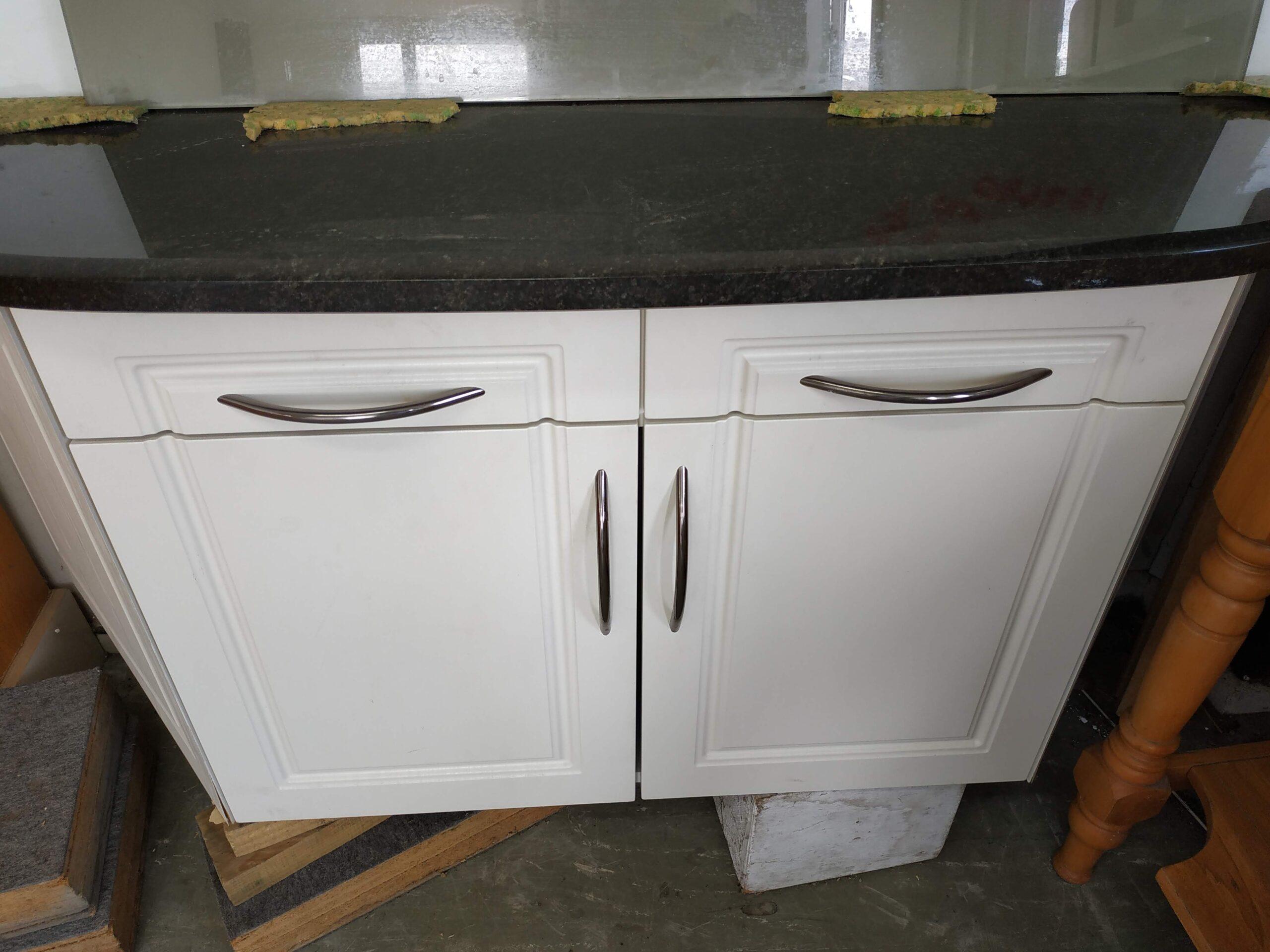 Image of: Cream Kitchen Unit With Black Granite Top Musgroves Ltd