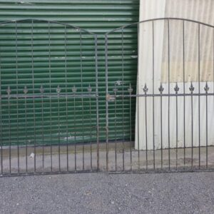 90776 Wrought Iron Black Driveway Gates side B