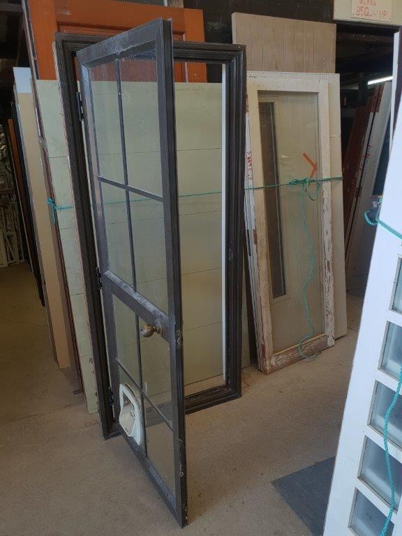 90844 Brown Aluminium Door ext opened