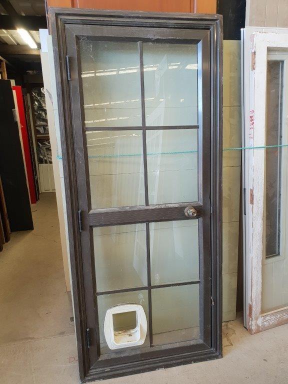 90844 Brown Aluminium Door ext