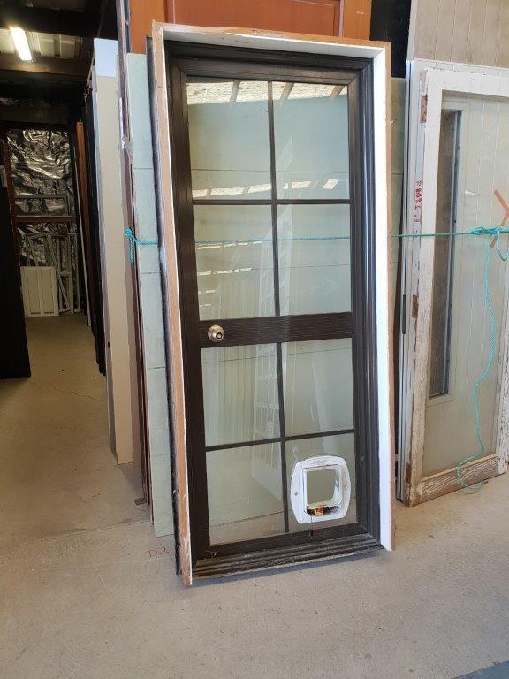 90844 Brown Aluminium Door int