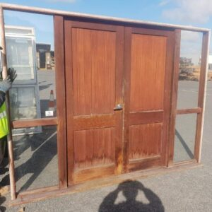 External Cedar / Rimu T&G French Door with Sidelights