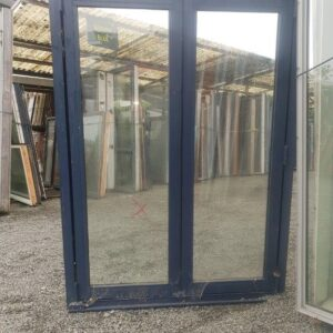 91198 Blue Aluminium Double Glazed Bifold Window ext