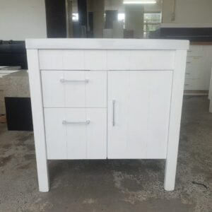 White Vanity T&G Look 2 Drawer + 1 Door