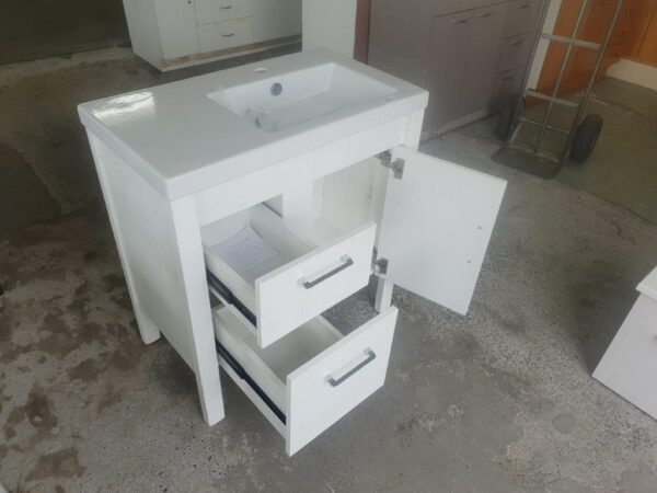 91230 White Vanity T+G look front and side opened