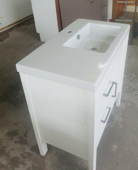 91230 White Vanity T+G look top and side