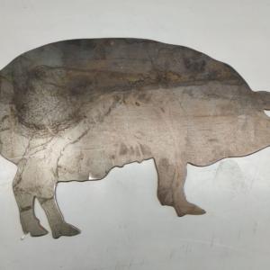 Pig Corten Garden Ornament