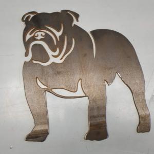 Bulldog Corten Garden Ornament
