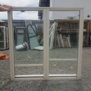 38408 Cream Alloy Double Hung Window ext opened