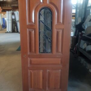 093400 Cedar Leadlight 7 Panel Ext Door ext