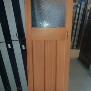 92986 Rimu Door Int 3 Panel 1 Pane Frosted Glass side B