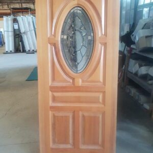 93300 Cedar Leadlight Oval 7 Panel Ext Door int