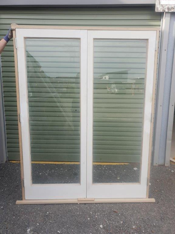 93068 Cedar 1 Pane Safety Glass French Door ext side