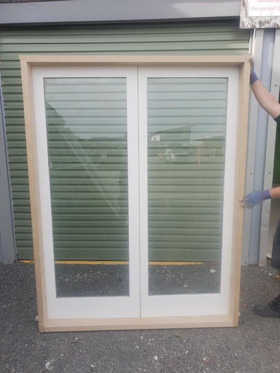 93068 Cedar 1 Pane Safety Glass French Door int side