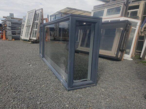 93657 Denim Blue Single Glazed Corner Window ext side view