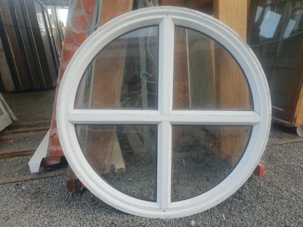 93671 White Aluminium Round Window ext