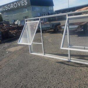 93861 White Aluminium Window ext opened