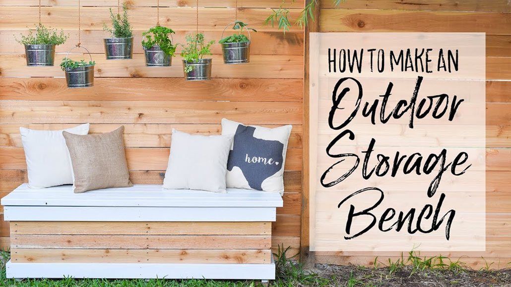 DIY Outdoor Storage Bench – Woodwork Projects