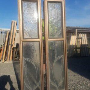 93831 Aluminium Leadlight Window Tall Narrow A and B mirror match