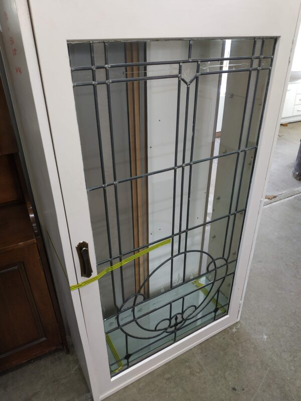 94412 Cupboard with Leadlight Glass Frontage