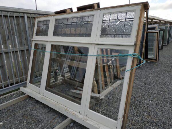 94480-Leadlight Wooden Window