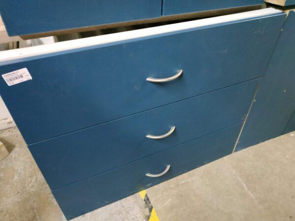 94646-Blue 3 Drawer Unit