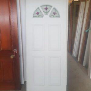 94884 Leadlight 4 Panel Ext Door side b