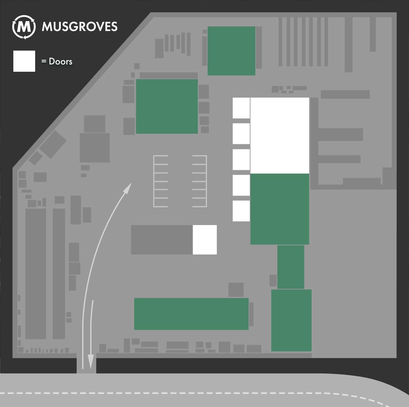 Location of doors at Musgroves