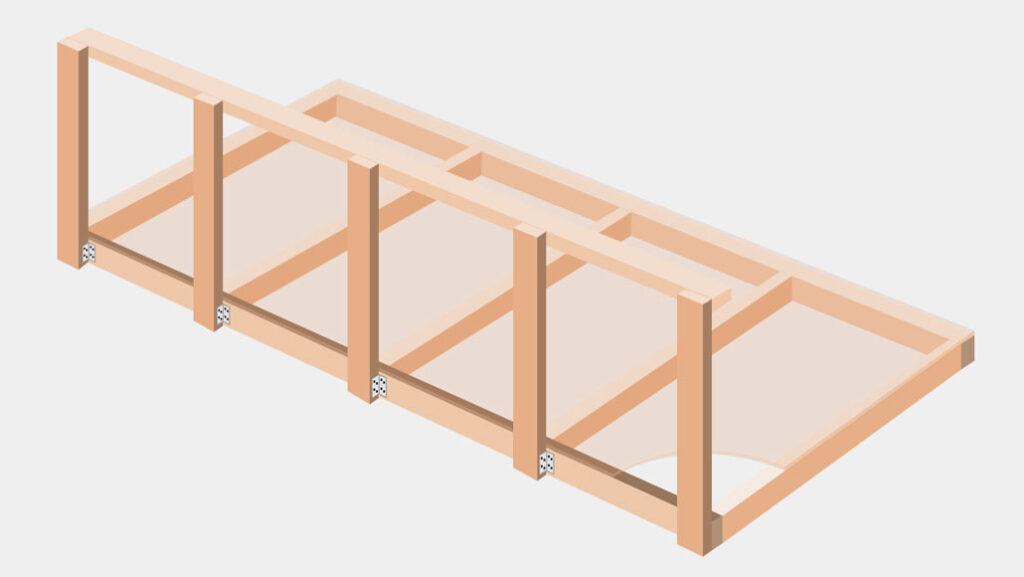 DIY overhead garage storage solutions
